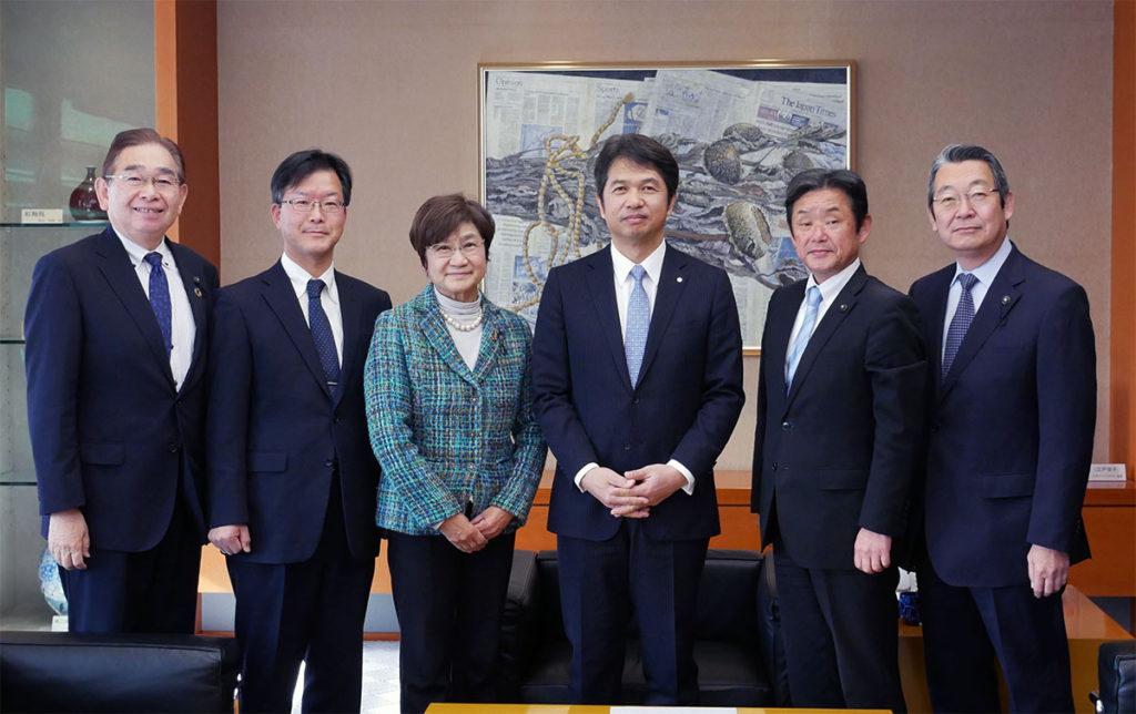 大井川知事と意見交換を行いました