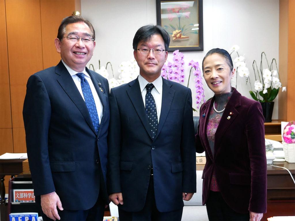 文科省に浮島副大臣を訪ね、日本遺産登録を要望